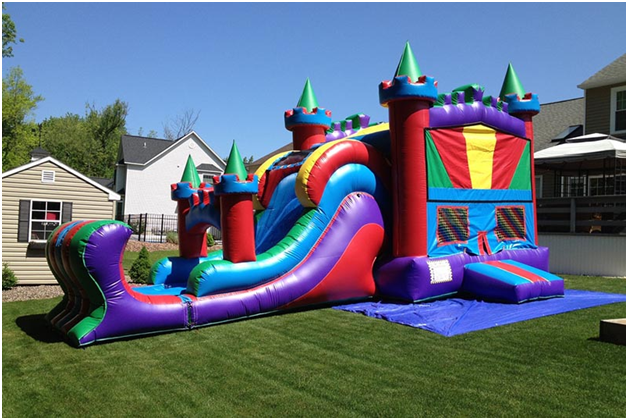 Cleaning a Waterslide Inflatable